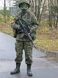 Soldado del GOLPE VIOLENTO fotos de archivo