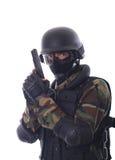 Soldado del golpe violento Imagen de archivo