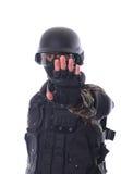 Soldado del golpe violento Imagen de archivo libre de regalías