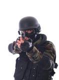 Soldado del golpe violento Imágenes de archivo libres de regalías
