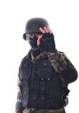 Soldado del golpe violento Imagenes de archivo