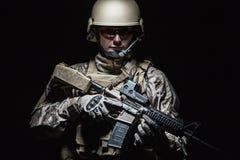 Soldado del grupo de las fuerzas especiales de Ejército de los EE. UU. imagen de archivo libre de regalías