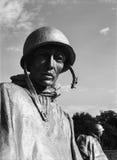 Soldado del monumento de Guerra de Corea Foto de archivo libre de regalías