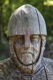 Soldado del siglo XI Sculpture en la abadía de la batalla Imagen de archivo