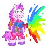 Soldado del unicornio Fotos de archivo libres de regalías