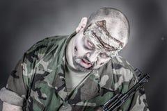 Soldado del zombi Fotos de archivo libres de regalías