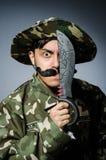 Soldado divertido Imagen de archivo libre de regalías