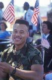 Soldado do African-American na cadeira de rodas Fotos de Stock