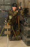 Soldado do combate armado Fotografia de Stock Royalty Free