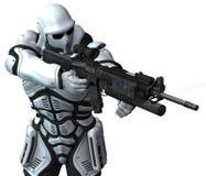 Soldado do fuzileiro naval do espaço. warhammer Fotografia de Stock Royalty Free