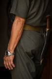 Soldado do Gurkha e faca do museu memorável, Pokhara do Gurkha, Fotografia de Stock Royalty Free