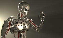Soldado do robô Fotos de Stock Royalty Free