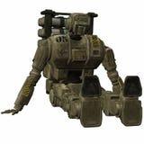 Soldado do zangão - figura 3D Imagens de Stock