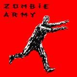 Soldado do zombi corrido com o dianteiro estendido dos braços Ilustração do vetor ilustração royalty free