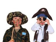 Soldado e Pirat Foto de Stock