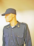 Soldado em um uniforme azul Fotos de Stock