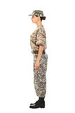 Soldado en el uniforme militar Fotografía de archivo libre de regalías