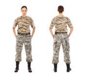 Soldado en el uniforme militar Imagen de archivo