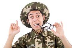 Soldado engraçado Fotos de Stock Royalty Free