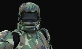 Soldado estupendo avanzado Imagenes de archivo