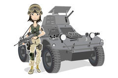 Soldado fêmea Fotografia de Stock