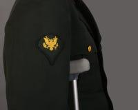 Soldado ferido Veteran Imagens de Stock