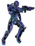 Soldado futurista Foto de Stock Royalty Free