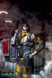 Soldado futurista en armadura Imagen de archivo libre de regalías