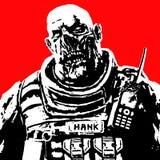 Soldado gordo do zombi Ilustração do vetor ilustração stock