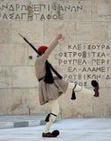 Soldado griego del evzone Imágenes de archivo libres de regalías