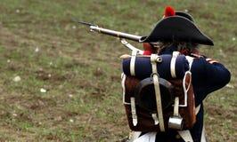 Soldado histórico Imágenes de archivo libres de regalías
