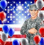 Soldado Illustration de los E.E.U.U. Foto de archivo libre de regalías