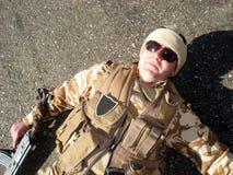 Soldado inoperante Fotografia de Stock Royalty Free