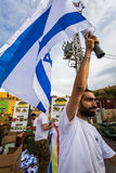 Soldado israelita com bandeira nacional Imagem de Stock Royalty Free