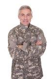 Soldado maduro feliz fotografia de stock royalty free