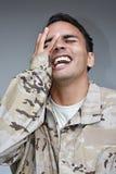 Soldado masculino Laughing da minoria Imagens de Stock Royalty Free
