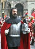 Soldado medieval en una reconstrucción en Italia Fotografía de archivo libre de regalías