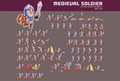 Soldado medieval Game Character Animation Sprite Imagens de Stock