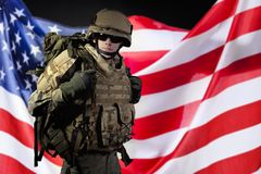 Soldado militar americano fotografía de archivo