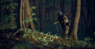 Soldado militar en la acción Foto de archivo libre de regalías