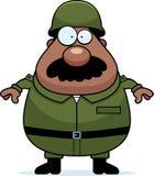 Soldado Mustache ilustração stock