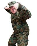 Soldado no uniforme da camuflagem Fotografia de Stock Royalty Free