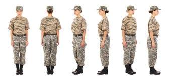 Soldado no uniforme militar Imagens de Stock Royalty Free