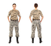 Soldado no uniforme militar Imagem de Stock