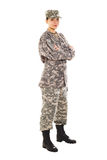 Soldado no uniforme militar Imagem de Stock Royalty Free