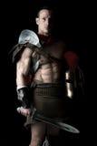 Soldado o gladiador antiguo Fotos de archivo