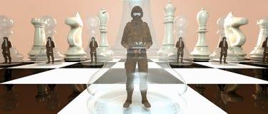 Soldado Pawn Chess ilustração royalty free