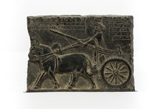 Soldado persa, alivio de Bas Persepolis Foto de archivo