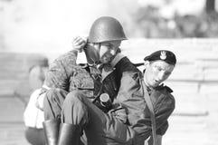 Soldado polaco herido Imágenes de archivo libres de regalías