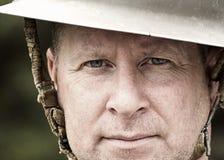 Soldado Portrait fotografia de stock